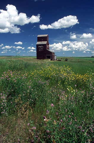 "Image of Bents Elevator, SK. ""Natures Canvas"""