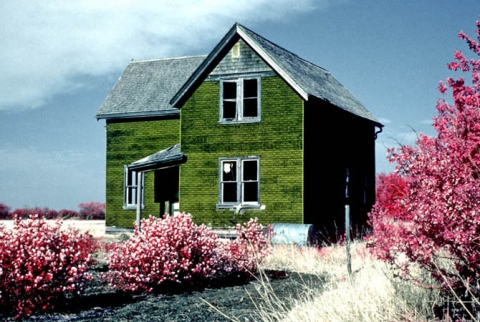 Farm House photographed with infrared film