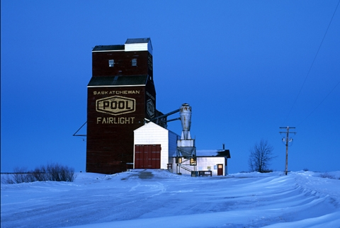 Photograph of wooden elevator at Fairlight, SK