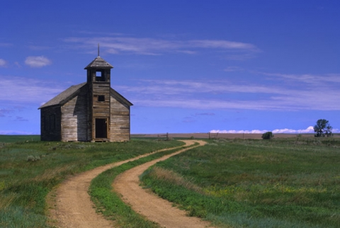 """Heaven Sent"" School house in Montana"