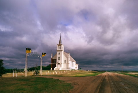 "Image of church in Saskatchewan ""One Moment"""