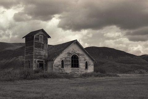 Old church / schoolhouse, Dorothy, Alberta