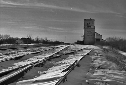 Wooden elevator at Darcy, Saskatchewan
