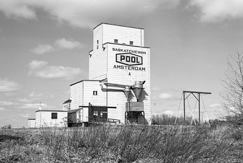 Wooden elevator at Amsterdam, Saskatchewan