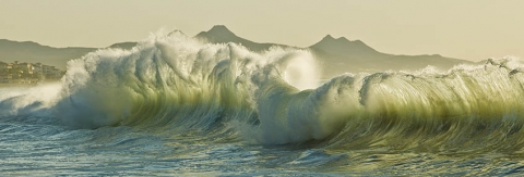"Waves of San Jose del Cabo, Mexico. entitled  ""Finale"""