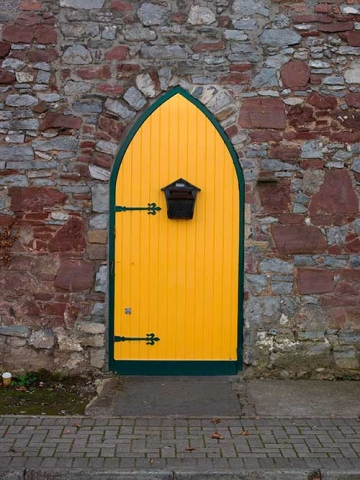 Photo of Colourful Side Entrance Door in Tipperary, Republic of Ireland