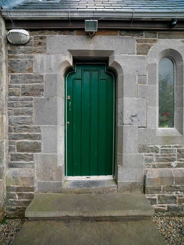 Photo of door at Killaloe Apostolic Church, Kilrush, Ennis, County Clare, Republic of Ireland.