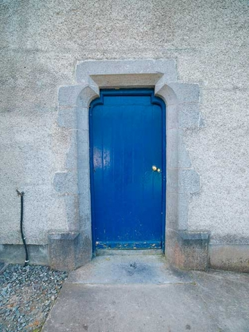 Photo of side door of Christ Church Anglican Church, Clifden, County Galway, Republic of Ireland.