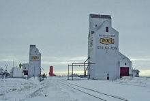 Pool elevators at Stoughton, Saskatchewan