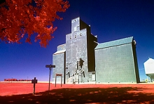 Wooden grain elevator at Upham, North Dakota