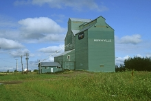 Image of wooden elevator at Bonnyville, Alberta