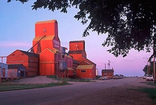 Pioneer grain elevators at Neudorf, Saskatchewan
