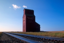 Last wooden grain elevator at Ridpath, Saskatchewan