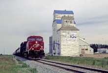 Image of Grassy Lake wooden grain elevator, Alberta.