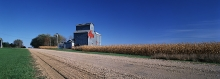 Wooden grain elevator at Duncombe