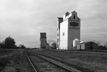 Wooden elevators at Bengough, SK