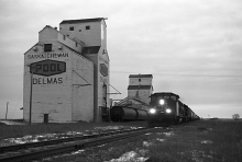Image of wooden elevators at Delmas, SK