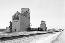 Image of wooden elevators at Delisle, SK