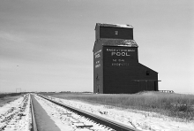 Image of wooden grain elevator at Ridpath, Saskatchewan