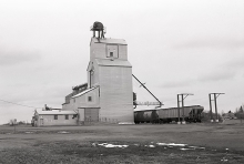 Wooden elevator at Dalmeny, Saskatchewan
