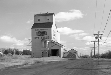Wooden grain elevator at Preeceville, Saskatchewan