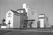 Images of wooden elevators at Carnduff, SK