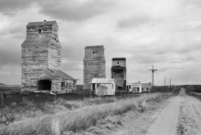 "Image of elevators at Verlo, SK, ""Along the Road"""