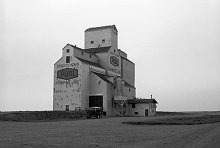 Image of wooden grain elevator at Tramping Lake, Saskatchewan