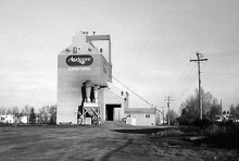 Wooden elevator at Carstairs, AB,