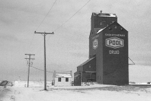 Wooden Grain Elevator at Druid, Saskatchewan